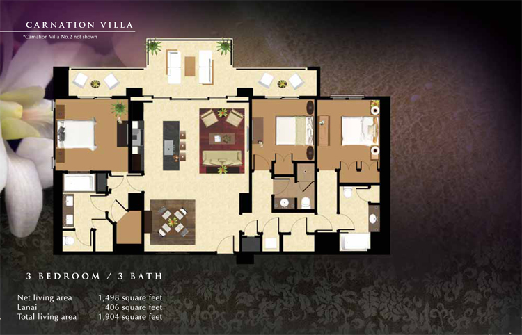 Floorplans Beach Villas Vacation Rentals Ko Olina