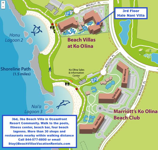 Ko Olina Map on